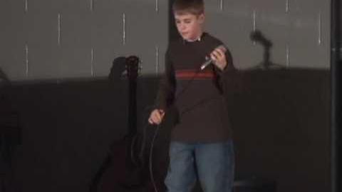 Justin Bieber Singing 3am @ Stratford Star