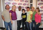 Usher, Justin Bieber and The Bert Show crew, June 2009