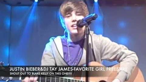 JUSTIN BIEBER & DJ TAYJAMES - FAVORITE GIRL FREESTYLE