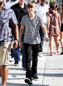 Justin Bieber walking on the streets in LA 2010