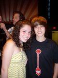 Justin with fan in Kidd Kraddick studio