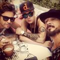 Justin with Ryan Good and Carl Lentz