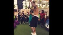 """Bieber performing """"Where Are Ü Now"""" in Las Vegas"""