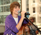 Justin Bieber performing at the Nintendo World Store in NYC, September 2009
