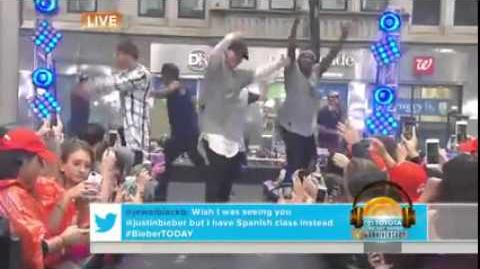 Justin Bieber - where are U now (Live on Today Show 2015)