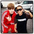 Justin Bieber with Jalen 2010