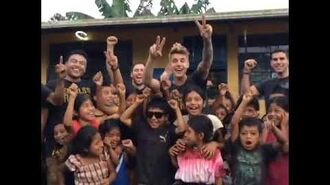 Justin Bieber with kids in Guatemala