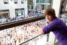 Justin Bieber at the Nintendo World Store 2009