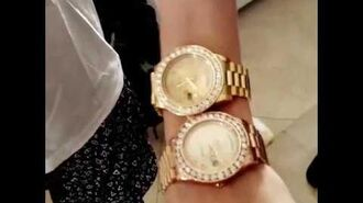 Justin Bieber wearing two watches