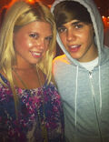 Justin Bieber with Chanel West Coast 2010