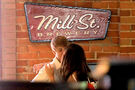 Justin and Selena at Mill St. Brewery in Canada - June 3, 2011
