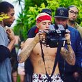 Justin holding a camera