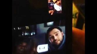 Khalil and Justin Bieber on FaceTime with Scooter Braun