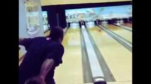 Poo Bear bowling
