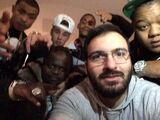 Justin Bieber with friends January 2014