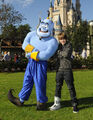 Justin and the genie in Disney World 2009