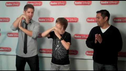 Justin Bieber Does the Glide with Jake and Ernie D