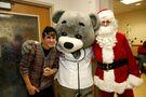 Justin Bieber, Dr. Bear, and Santa Claus