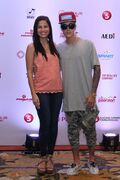 Justin Bieber with Jasmine Curtis-Smith