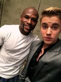 Floyd Mayweather and Justin Bieber May 2015
