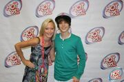Hot 95.7 Justin Bieber and a fan