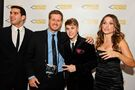 Robert Caplin and Justin Bieber Pencils of Promise Gala 2011