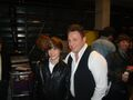 Justin with Johnny Reid at the Juno Awards