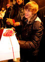 Justin with gifts at Live@Much
