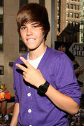 Justin Bieber at the Nintendo World Store