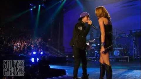 """Overboard"" (HD & 3D) - Miley Cyrus & Justin Bieber live at (ao vivo no) Madison Square Garden"