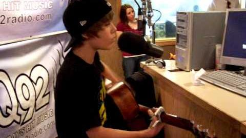 "Justin Bieber performs ""One Time"" on WDJQ"