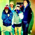 Justin Bieber snow football with friends