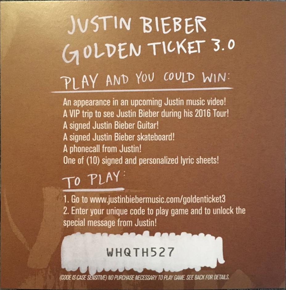 Image Purpose Golden Ticket 30g Justin Bieber Wiki Fandom