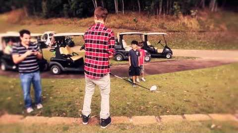 Bieber and I play golf