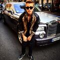 Bieber in Paris September 2014