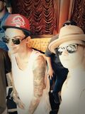 Justin Bieber with Ruby Rose and Christian Beadles