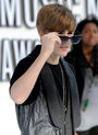 Justin Bieber with sunglasses on red carpet VMA's 2010