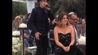 "Justin Bieber singing ""All You Need Is Love"" at wedding"