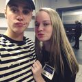 Justin and Anaïs selfie