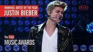Justin Bieber - YTMA Artist of the Year