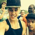 Justin Bieber with friends 2013