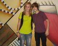 Bieber with a fan 2009