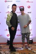 Justin Bieber with Billy Crawford