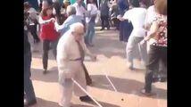 Old man dancing