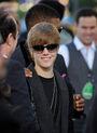 Justin Bieber looking at the camera VMA's 2010