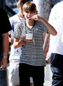 Justin and Ryan Butler eating frozen yogurt in LA