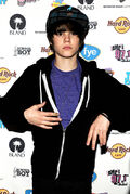 Justin Bieber at My World launch at Hard Rock Cafe