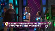 Rachel Gets Handcuffed to a Security Guard for the Rest of the Show