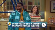 Byron Really Gets a Haircut that the Audience Chooses