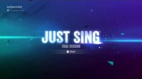 Just Sing Trial Version Menu (Xbox One)